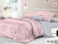 Двуспальный комплект постельного белья с компаньоном ТМ TAG ранфорс / комплект постільної білизни