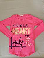 Лёгкая розовая туника  для девочки  8, 9, 10 лет, фото 1