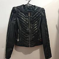 Куртка кожзам, женская,  S-XXL, № 1457