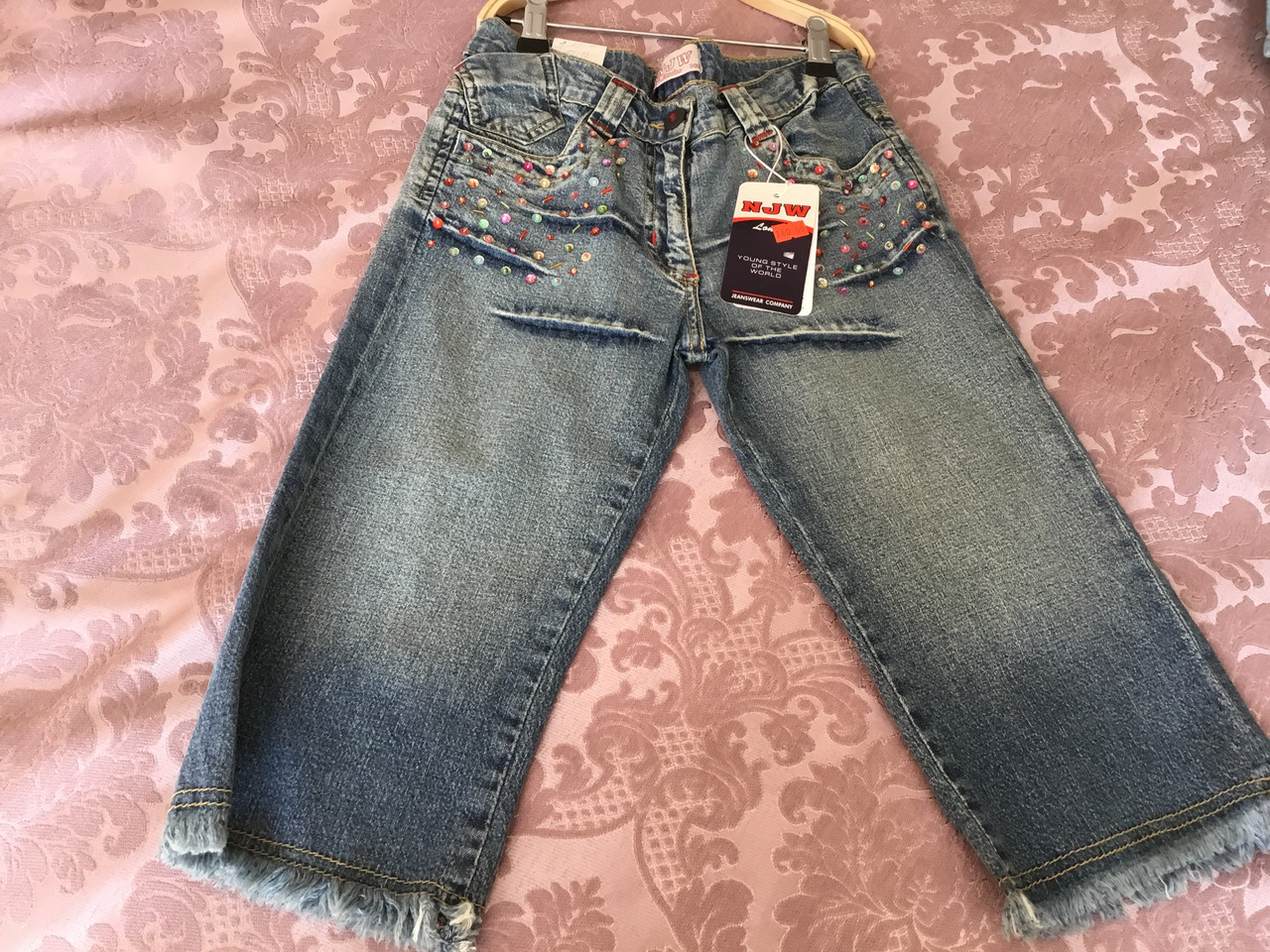 Стильные брюки-капри для девочки