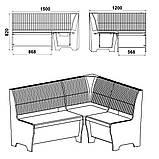 Кухонный мягкий уголок-диванчик Компанит Тунис из лдсп, фото 8