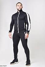 Мужской крутой спортивный костюм весна лето 2020 турецкая двунить цвета красный и чёрный
