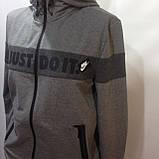 Р. ххл Чоловічий спортивний костюм в стилі Nike (репліка) сірий відмінної якості, фото 4