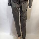 Р. ххл Чоловічий спортивний костюм в стилі Nike (репліка) сірий відмінної якості, фото 7
