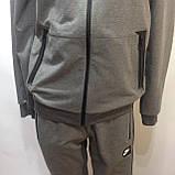 Р. ххл Чоловічий спортивний костюм в стилі Nike (репліка) сірий відмінної якості, фото 8