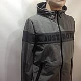 Р. ххл Чоловічий спортивний костюм в стилі Nike (репліка) сірий відмінної якості, фото 2