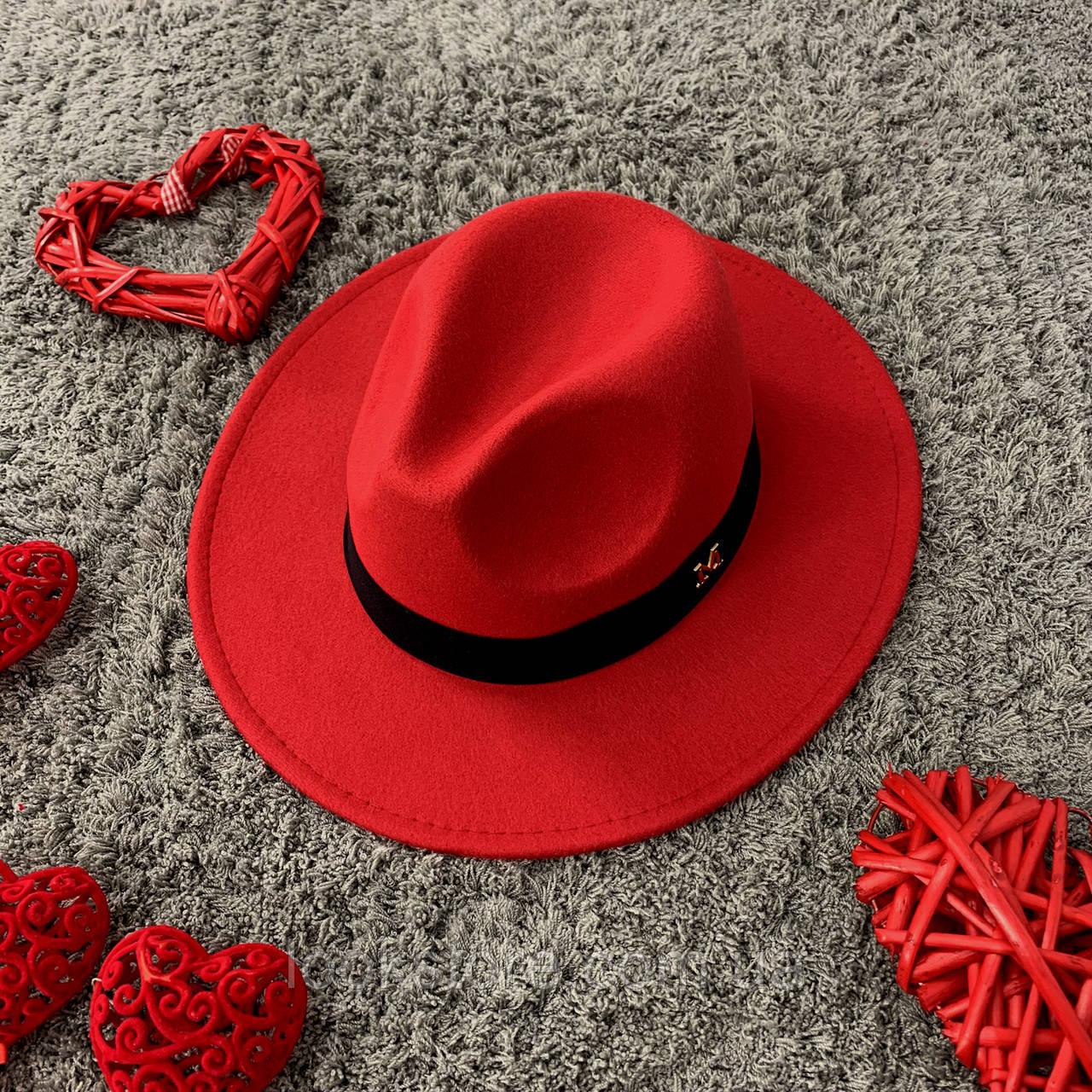 Шляпа Федора унисекс с устойчивыми полями в стиле Maison Michel красная