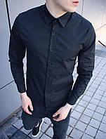 Мужская Рубашка Черная