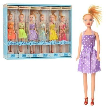 Лялька 26см,в кор-ці,50,5х35,5х5,5см,6видів №ZR-660(6)(180)