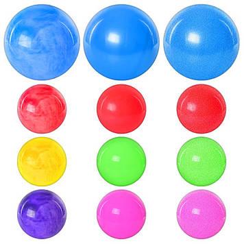 """М'яч гумовий 9"""" 75гр, 3види №MS0248(120)"""