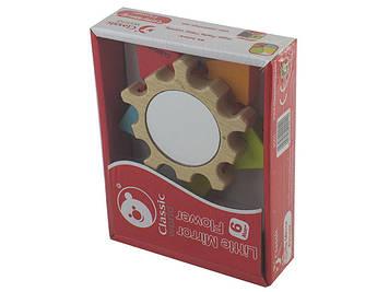 Іграшка дерев'яна яна зірочка, звукова з дзеркалом №3060