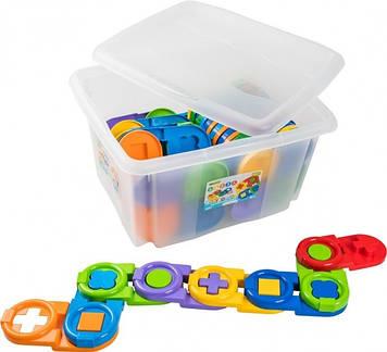 """Іграшка-пазл """"Дитяче доміно"""" 64ел. у контейнері №39551/Тигрес/"""
