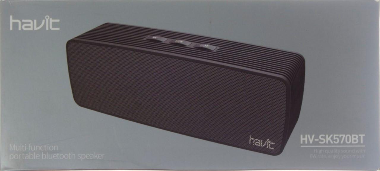 Колонка bluetooth Havit HV-SK570 BT+USB black №7699
