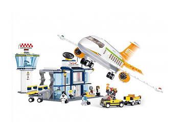 """Конструктор Sluban"""" Авіація: літак,фігурки,678дет.,у кор-ці,57х38х9см №М38 В0367(6)"""