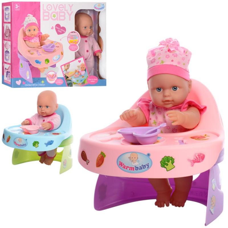 Лялька-пупс,30см,стілець для годування,звук,на бат-ці,2 види,в кор-ці. №WZJ019-1-2(12)