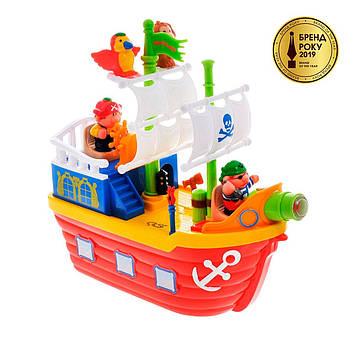"""Ігровий набір """"Піратський корабель"""" на колесах,світло,звук №38075/КіддіСвіт/"""