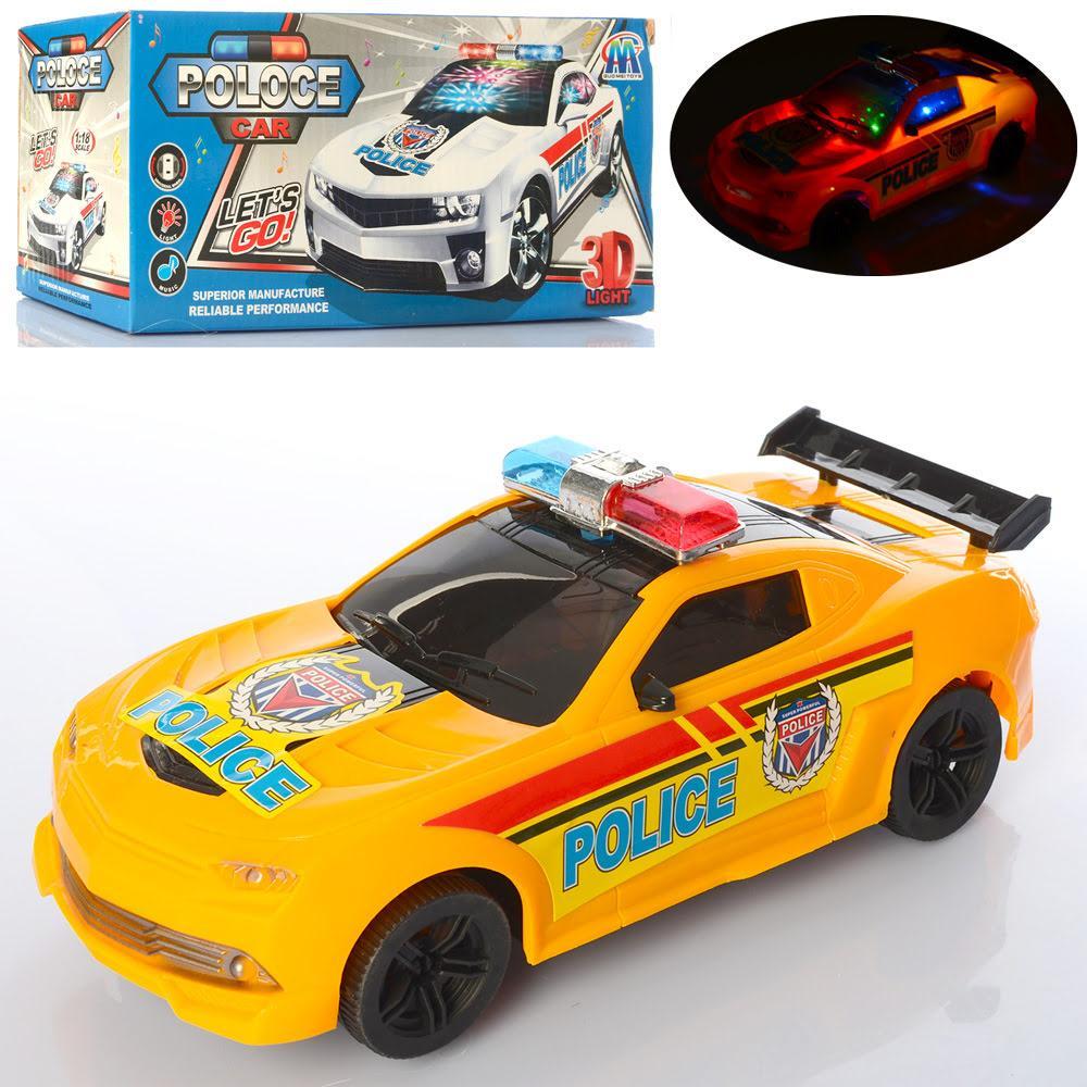 Машина на бат-ці, Поліція (1:18)23см,3Dсвітло,їзить,2кольори, в кор-ці №114-3(72)
