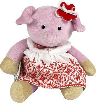"""М`яка ігр. """"Свинка-дівчинка у вишиванці"""" 25см  №СВ-0022"""