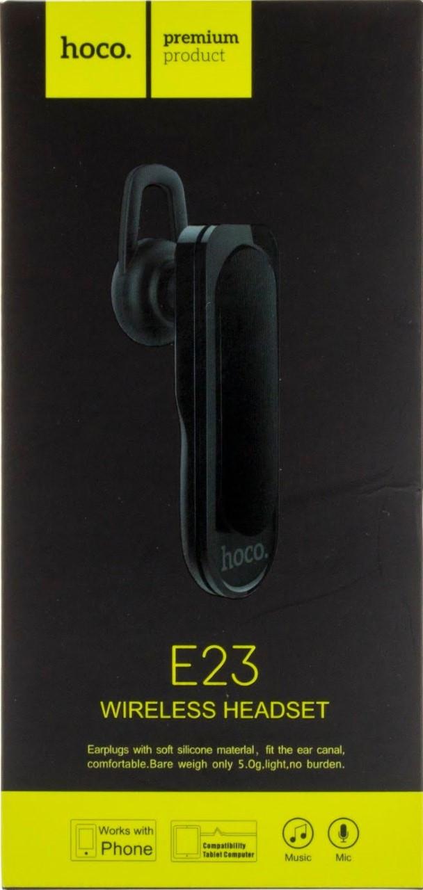 Bluetooth+гарнітура HOCO E23 black безпровідна