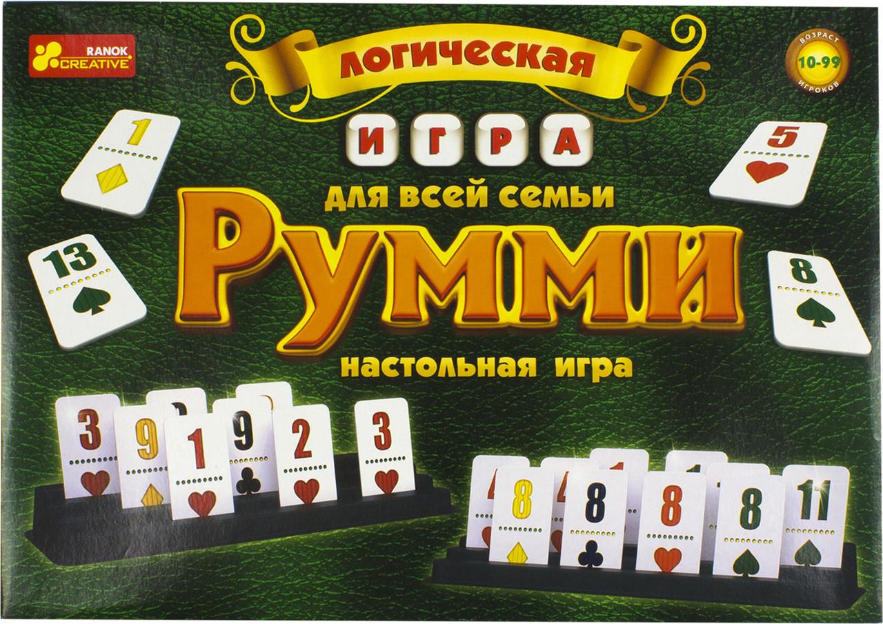 """Гра логічна """"Румми"""" №1982/12120028Р/Ранок/"""