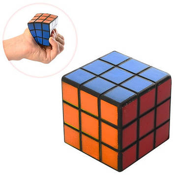 Іграшка фомова кубик,сквіш ,5,5см в кульку,№MS0806(90)