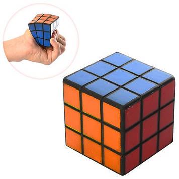 Іграшка фомова №MS0806 кубик,сквіш ,5,5 см в пакунку (90)