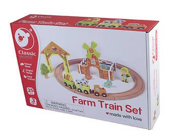 Іграшка дерев'яна яна залізна дорога Ферма №4193