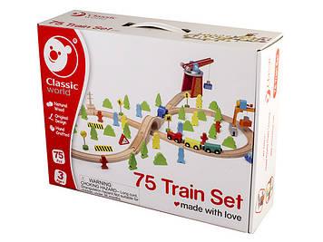 Іграшка дерев'яна яна залізна дорога Порт №4163 Classic World