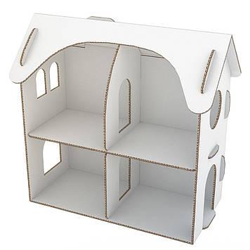 """Ляльковий настільний будинок картонний 71*38*67 см """"Futufu"""""""
