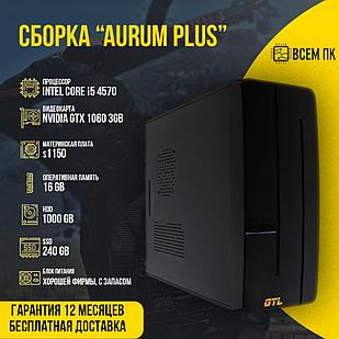 Игровой компьютер Сборка AURUM PLUS в корпусе GTL 2 (I5-4570 / GTX 1060 3GB / 16GB ОЗУ / HDD 1000GB