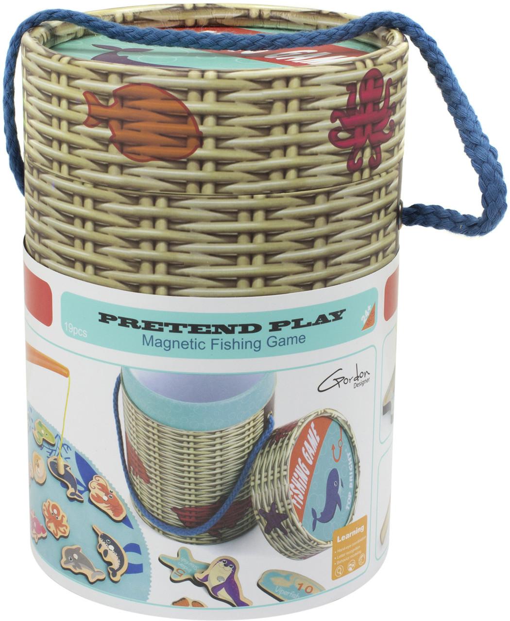 Іграшка дерев'яна Рибалка у відрі №120372 Top Bright