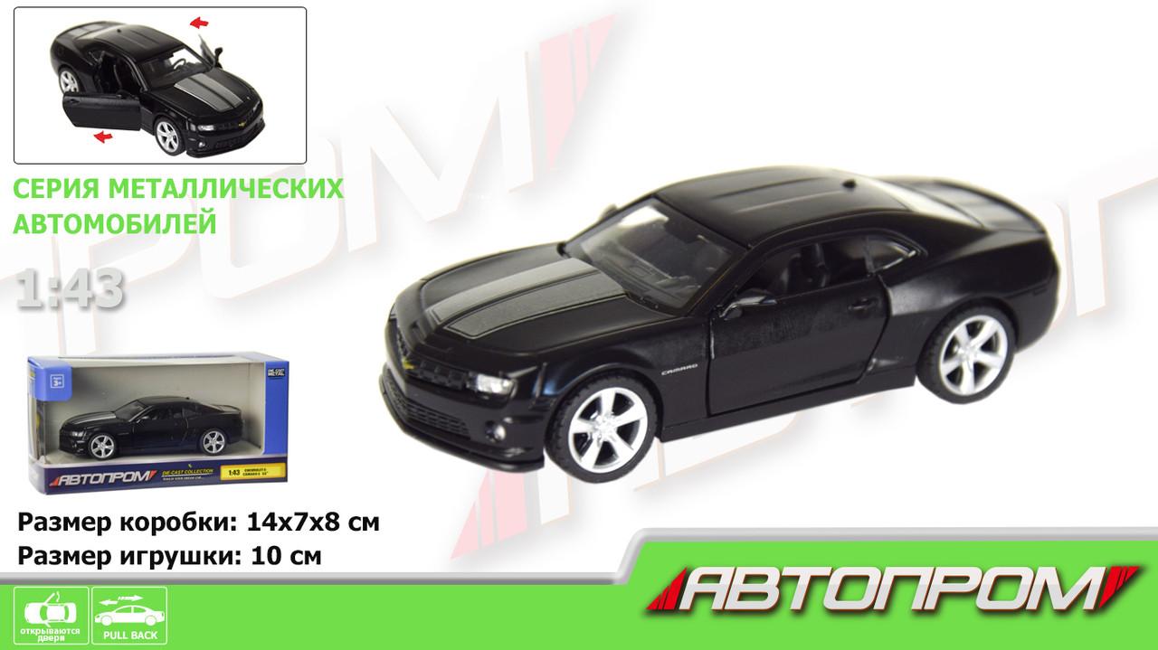 """Машина мет.""""Автопром""""ChevroletCamaroSS(matte black series),1:43,в кор-ці №7615(48)(96)КІ"""