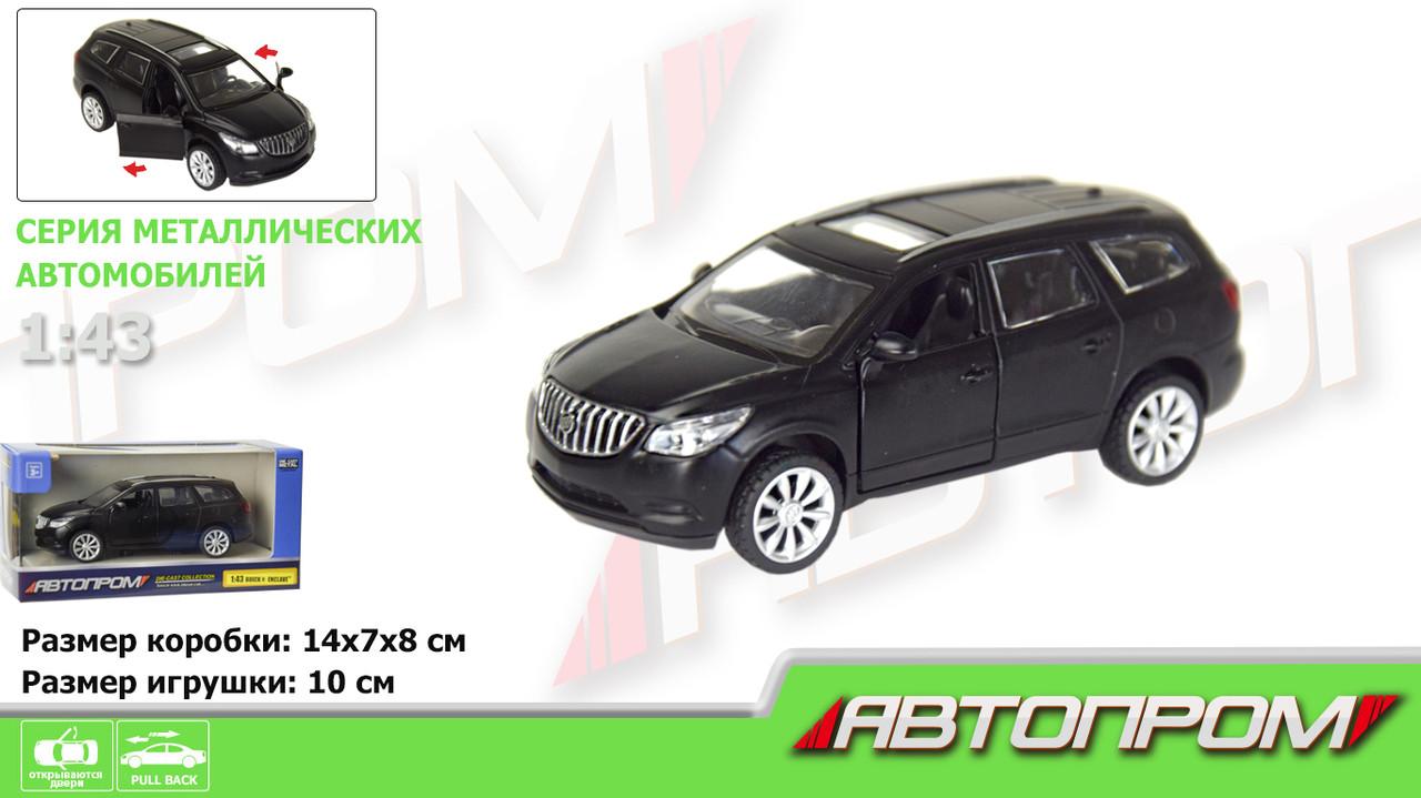 """Машина метал. """"Автопром"""" Buick Enclave(matte black series),1:43,в кор-ці №7625(48)(96) КІ"""