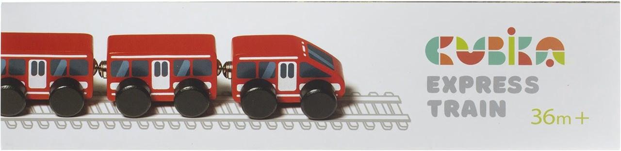 Іграшка дерев. Поїзд Експрес Cubika №15108
