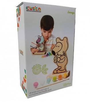 "Іграшка дерев. Розмальовка ""Ведмедик"" з фарбами Cubika №13852"
