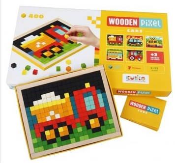 "Мозаїка дерев. ""Wooden pixel 4"" Cubika №14903"