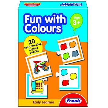 Пазл Frank Вчимо кольори,20 карток,40 пазлів №10336(24)
