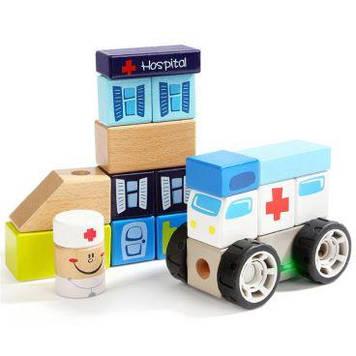 Іграшка дерев'яна яна звукові блоки Відділення швидкої допомоги №150178(4)