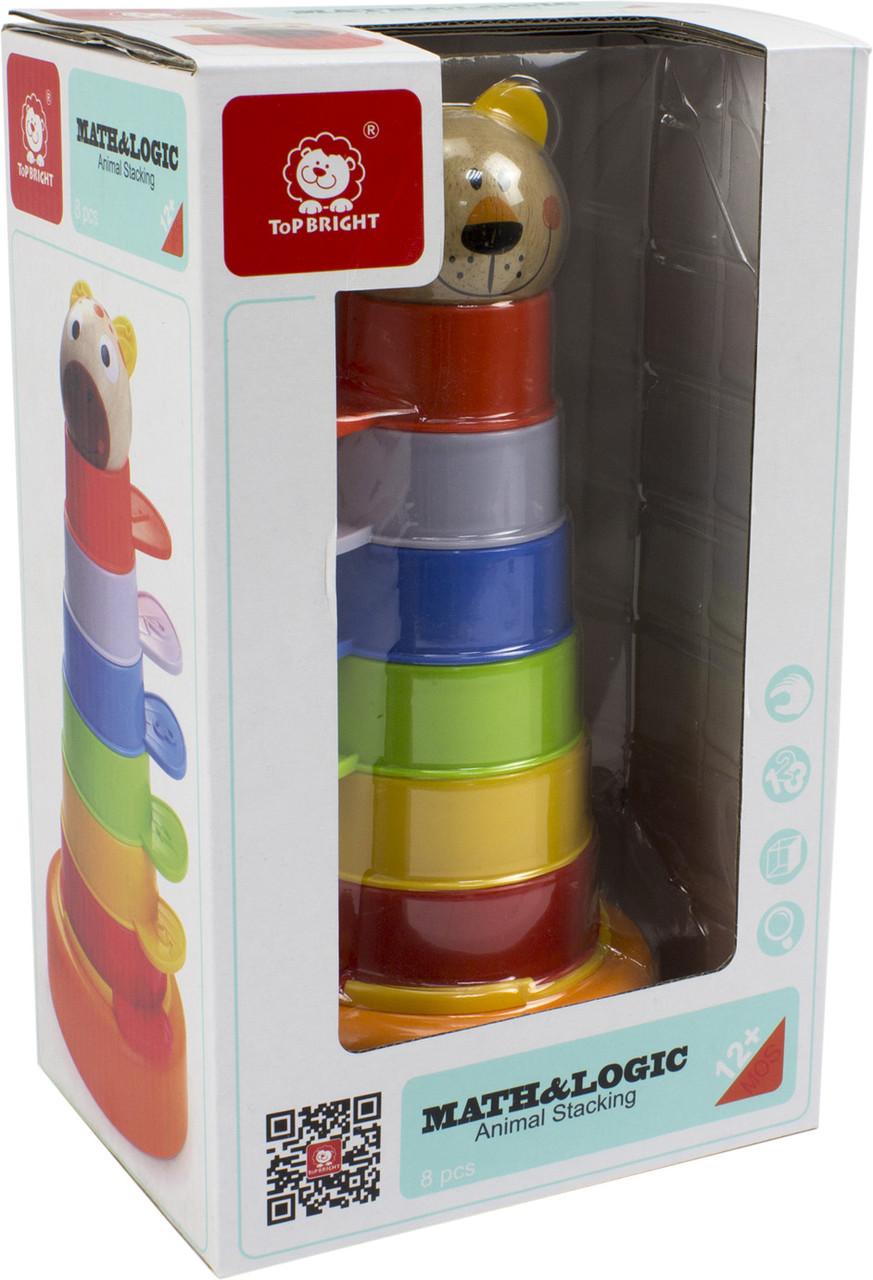 Іграшка різнокольорова  вежа 2в1пласт.№120322(16) Top Bright