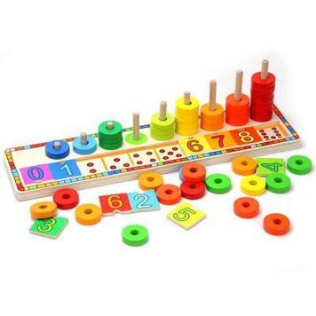 Іграшка дерев'яна яна Веселка, вчимось рахувати №6540(15) Top Bright