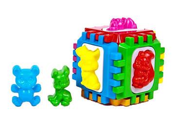 """Куб-сортер вкладки в пакунку,14х14х14см,""""Кіндер-Вей"""" №50-001(15)"""