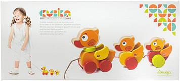 Іграшка дерев. Мандруючі каченята Cubika №13722