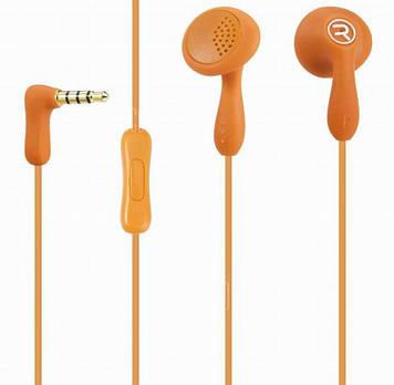 Вставні Навушники Remax Candy 301 (гарнітура) orange+мікрофон