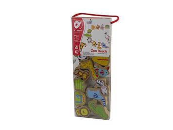 Іграшка дерев'яна яна шнурівка Зоопарк №3632 Classic World