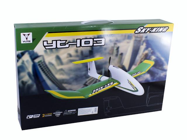 Літак на керув.,4G ,30см,2 канала,USB зарядн.,запас. вінт №YT103(8)