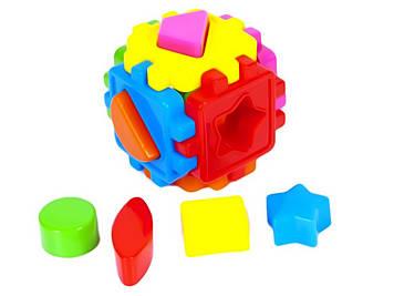 """Куб-сортер,геометр. фігури,""""Кіндер-Вей"""" №50-101(20)"""