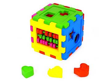 """Куб-сортер з рахівницею,""""Кіндер-Вей"""" №50-201(18)"""