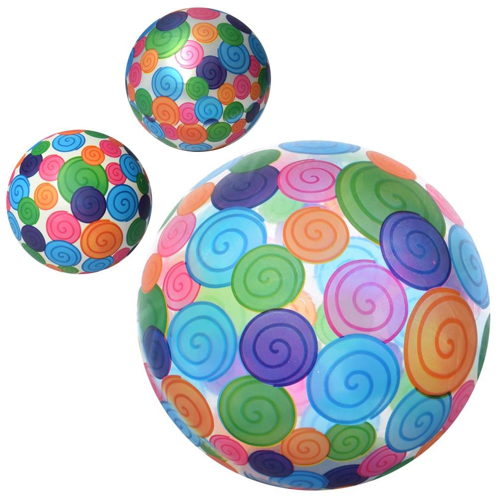 """М`яч дитячий 9"""" малюнок,60-65г,в кульку №MS1915(120)"""