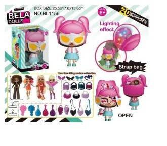 """Ігровий набір """"Bella dolls"""" сумка,лялька 17,5 см,прикраси,одяг,у кор-ці №BL1156(28) КІ"""