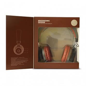 Навушники Havit HV-H2573BT безпровідні bluetooth dark grey/dark brown+мікрофон